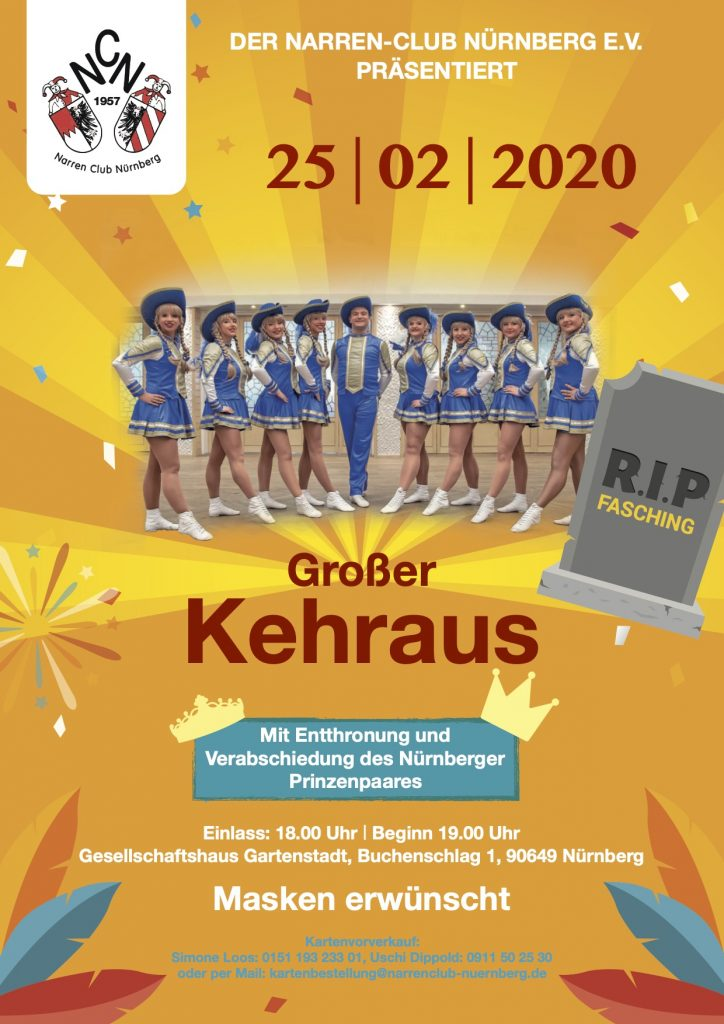 Großer Faschings-Kehraus @ Gesellschaftshaus Gartenstadt